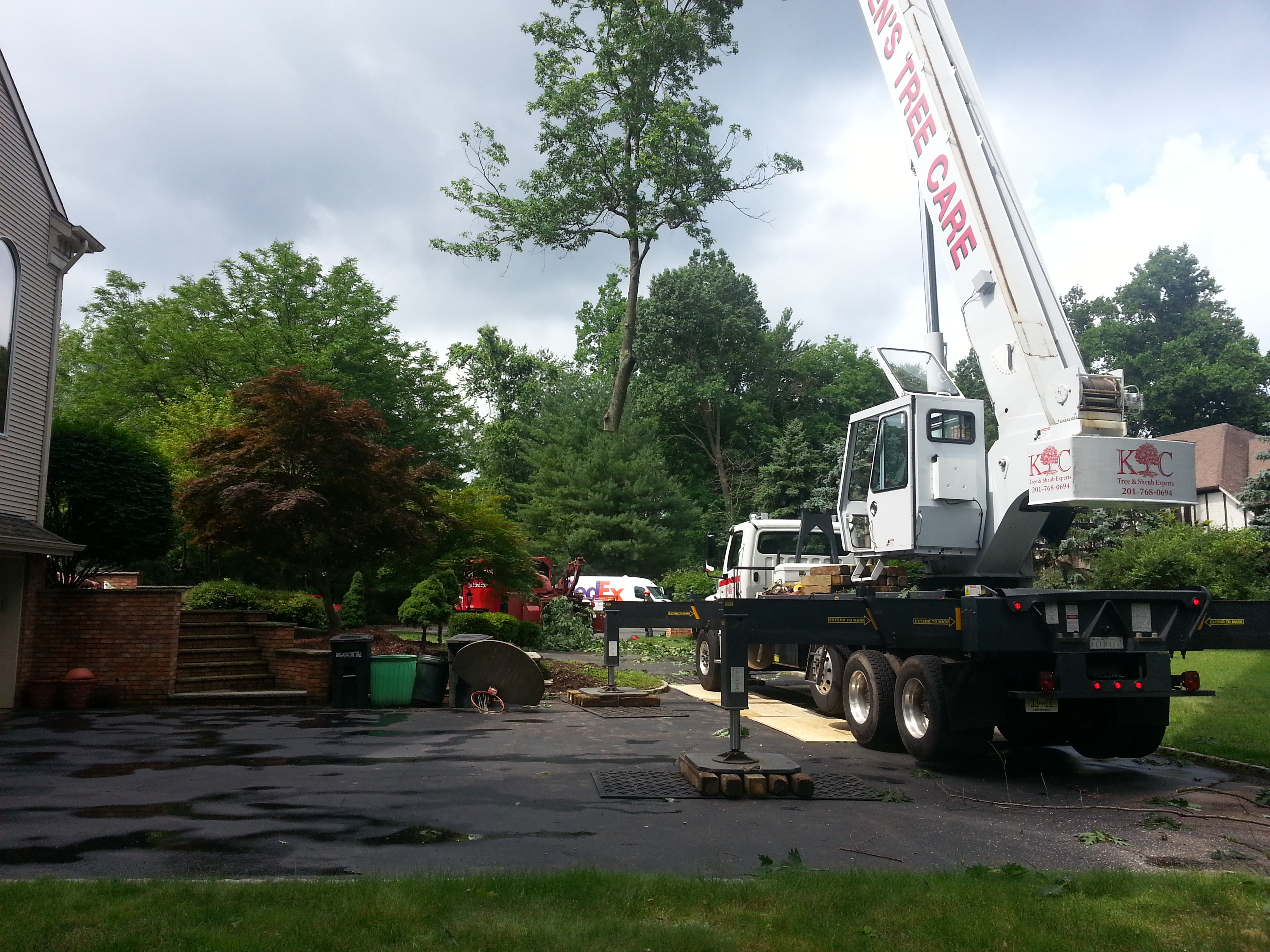 Our large boom crane